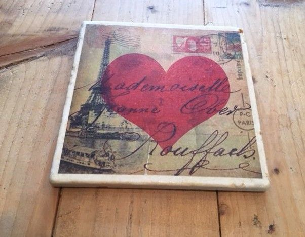 french heart trivet